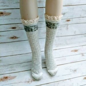Accessories - Women Lace Boot Socks, Size 5-10